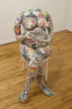 photo of sculptural installation, Gudrun Lock artist