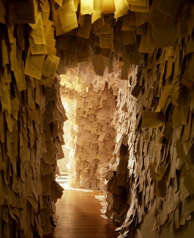 """""""House of Leaves"""" Nuit Blanche installation view, 2008"""
