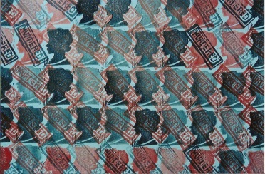 """Murderd, by Men"" lino print, Dana Ayotte artist"